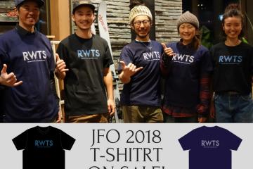 JFO 2018 オリジナル Tシャツ完成!!